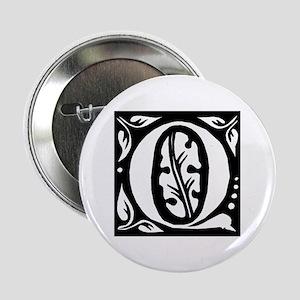 Art Nouveau Initial Q Button