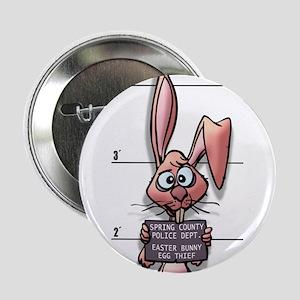 Easter Bunny Mugshot Button