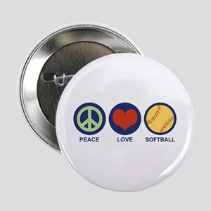 "Peace Love Softball 2.25"" Button"