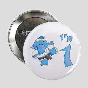 "Elephant Karate First Birthday 2.25"" Button"