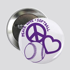 "P,L,Softball, violet 2.25"" Button"