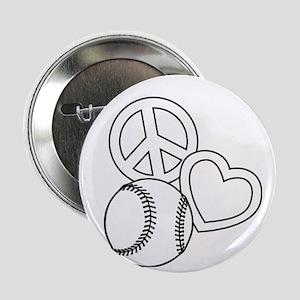 "P,L,Softball, white 2.25"" Button"