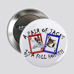 """Jack Russell Terrier """"PAIR OF JACKS"""" Button"""