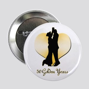 "50th Wedding Anniversary 2.25"" Button"
