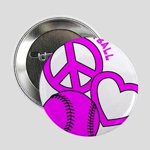 """P,L,Softball, hot pink 2.25"""" Button"""