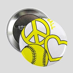 "P,L,Softball, yellow 2.25"" Button"