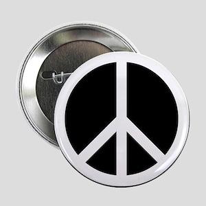 "White Peace Sign 2.25"" Button"