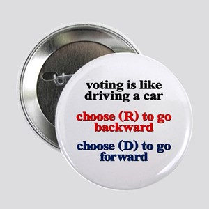 "Democrat Voting/Driving 2.25"" Button"