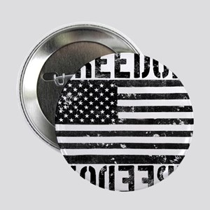 """Freedom US Flag 2.25"""" Button"""