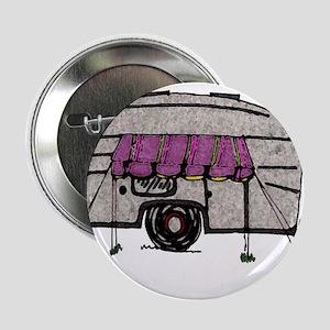 """Vintage Airstream Camper Trailer Art 2.25"""" Button"""