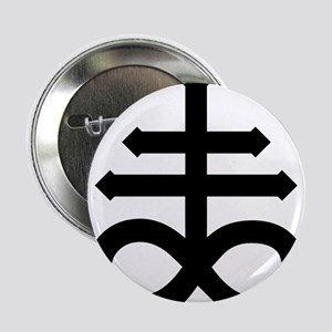 "Hermetic Alchemical Cross 2.25"" Button"