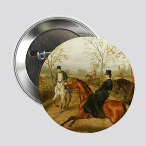 """Riding Sidesaddle to the Hunt 2.25"""" Button"""