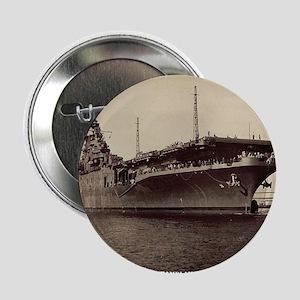"uss lake champlain cv framed panel pr 2.25"" Button"