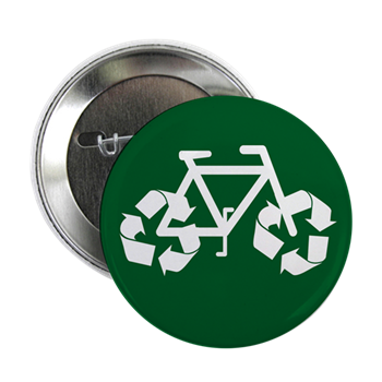 Recycle Bicycle Button Environmental Buttons And Magnets