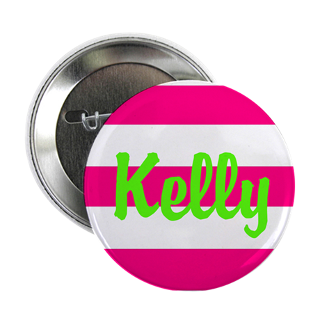 """Personalized Pink and Green 2.25"""" Button"""