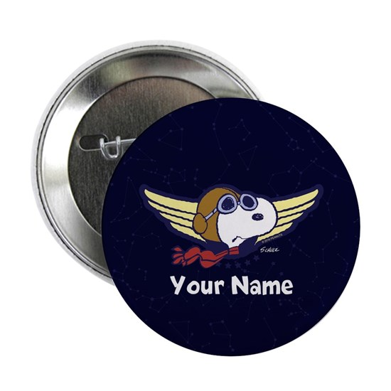 Snoopy Ace Personalized Buttons