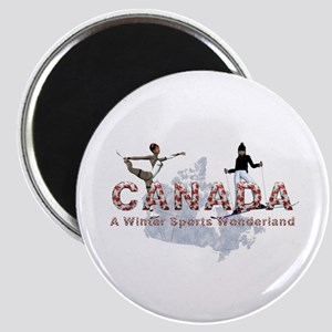 Canada Winter Sports Magnet Magnets