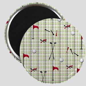 Hole in One Golf Equipment on Plaid Magnet