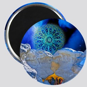 Winter Solstice Light round Magnet