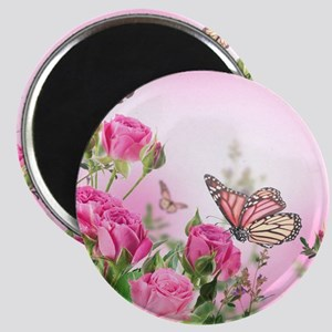 Butterfly Flowers Magnet