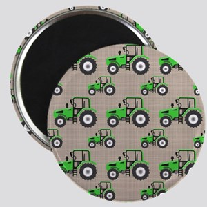 Green Tractor Pattern Magnets