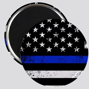 Horizontal style police flag Magnets