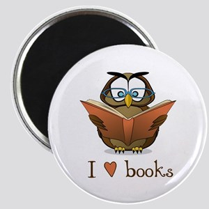 Book Owl I Love Books Magnet