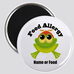 Personalized Food Allergy Frog Magnet