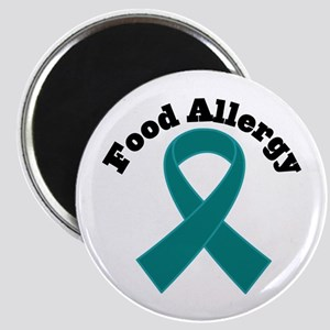 Food Allergy Teal Ribbon Magnet