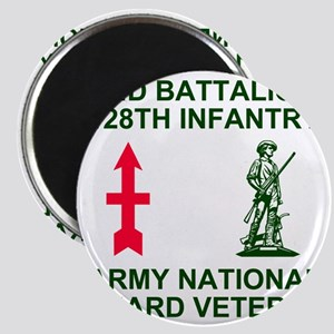 ARNG-128th-Infantry-2nd-Bn-Veteran-Shirt-Gr Magnet