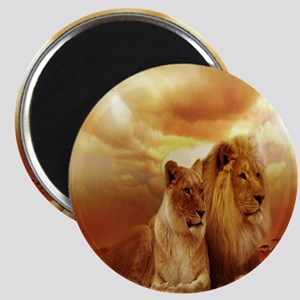 Africa Lion and Lioness Magnet