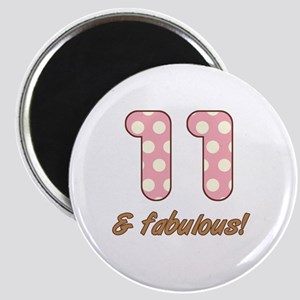 11th Birthday Dots Magnet