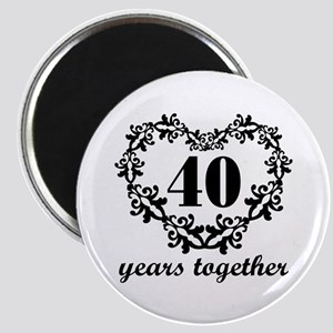 40th Anniversary Heart Magnet