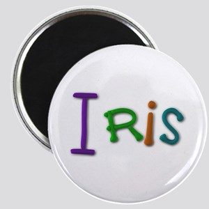 Iris Play Clay Round Magnet