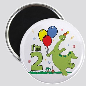 Dino 2nd Birthday Magnet