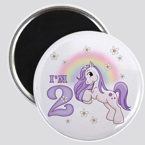 Pretty Pony 2nd Birthday Magnet