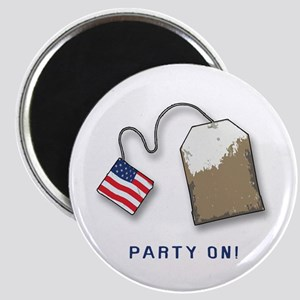 PARTY ON! Tea Party Magnet