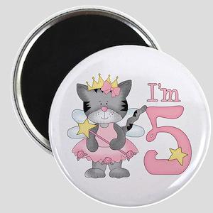 Kitty Princess 5th Birthday Magnet