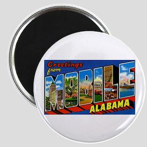 Mobile Alabama Greetings Magnet