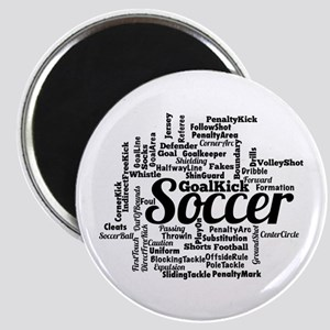 Soccer Word Cloud Magnets