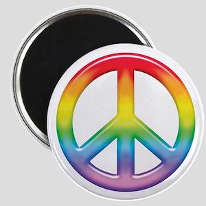 Gay Pride Rainbow Peace Symbol Magnet
