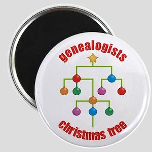 Genealogists Christmas Tree Magnet