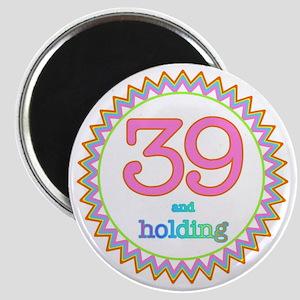 Number 39 and Holding Sherbert Zig Zag Magnet