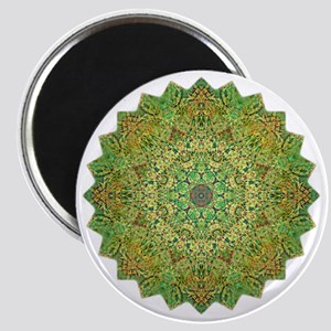 Green Gold Heart Chakra Mandala Yoga Shirt Magnet