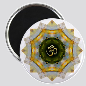 Gold Green Yoga Om Mandala Shirt Magnet
