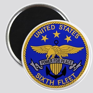 SIXTH FLEET US Navy Military PATCH Magnet