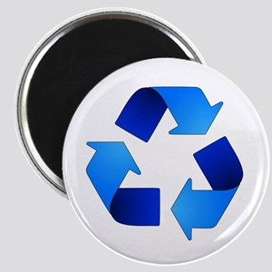 Blue Recycling Symbol Magnets