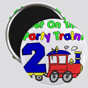 Get On The Party Train 2 Year Old Magnet