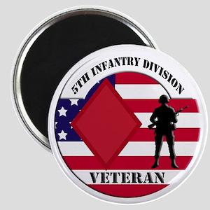 5th Infantry Division Veteran Magnet
