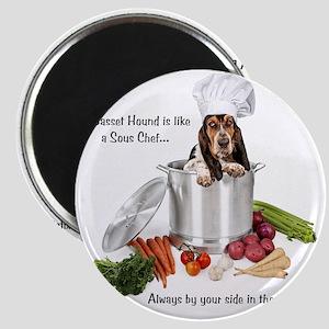 Basset Hound Sous Chef Magnet